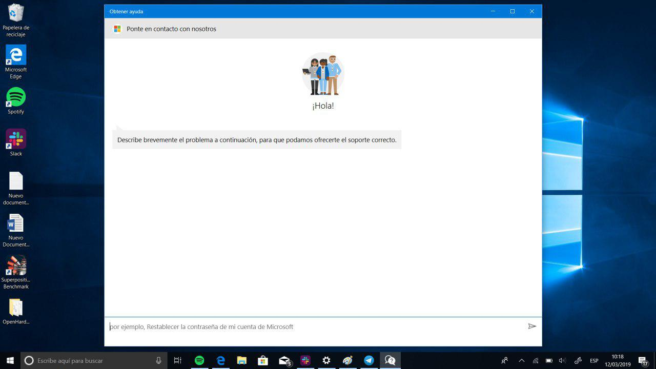ayuda soporte tecnico windows 10