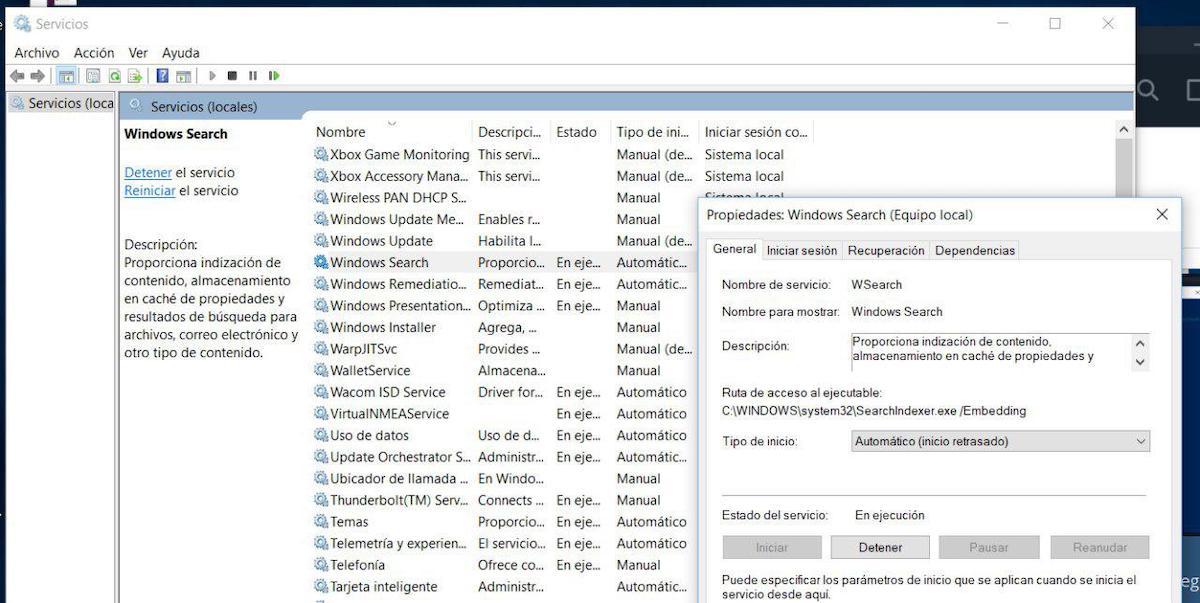 barra de busqueda de windows 10 no escribe nada