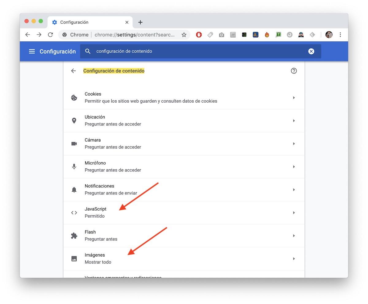 bloquear páginas web google chrome android