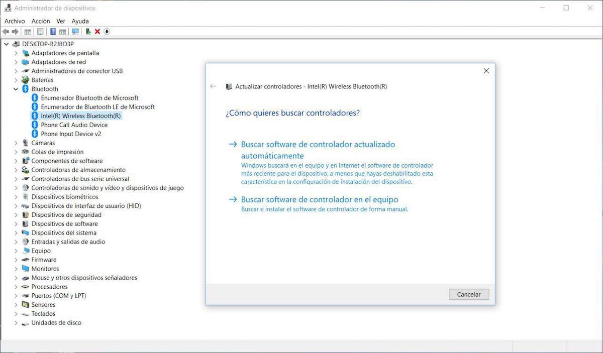 bluetooth no funciona windows 10