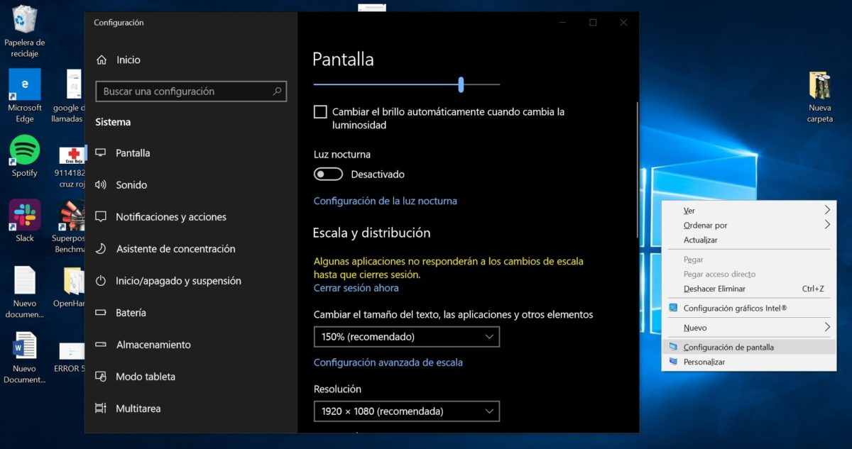 cambiar tamaño letras ordenador windows 10