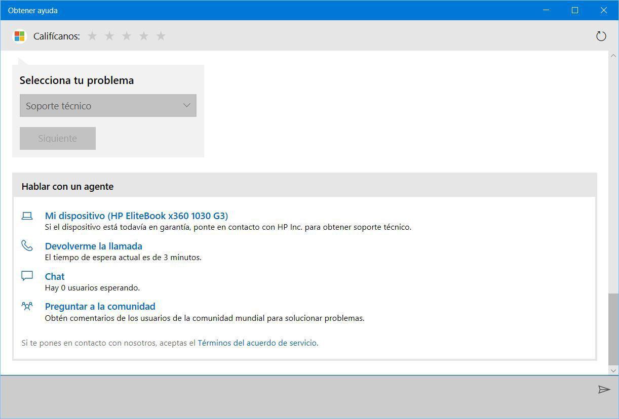 chat soporte windows 10
