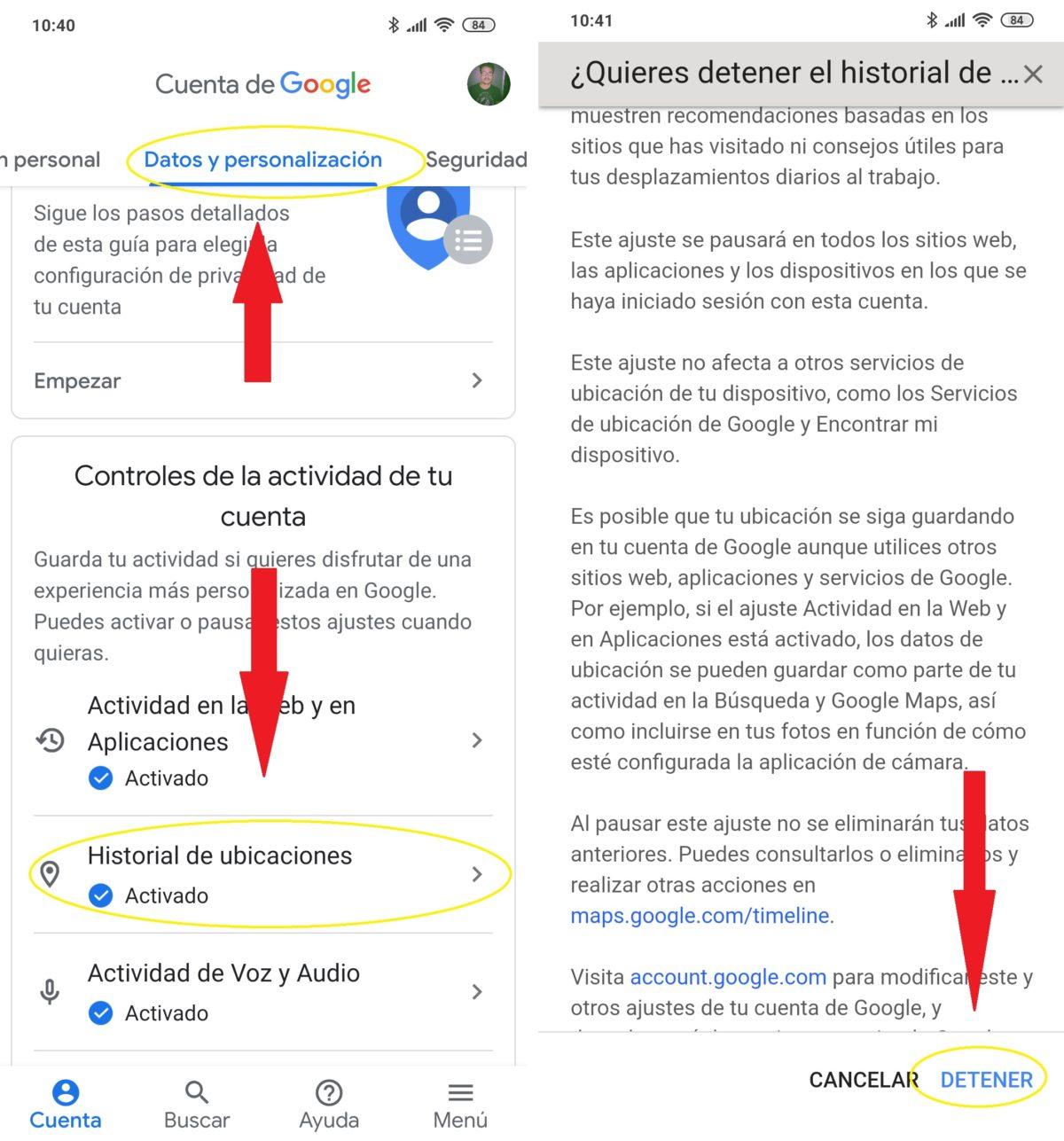 historial de ubicaciones google 02