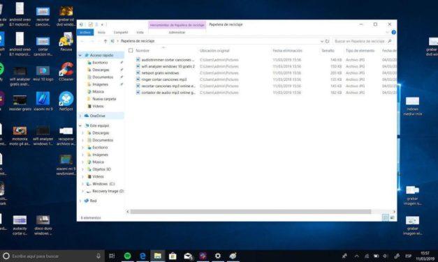 Cómo recuperar archivos borrados de la Papelera de Windows 10