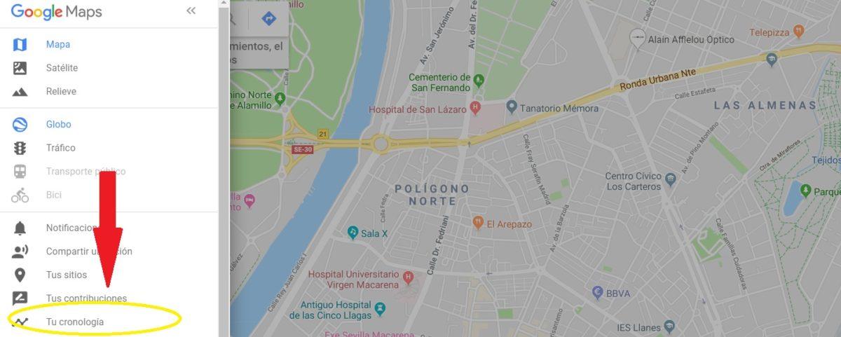 ubicaciones maps google chrome