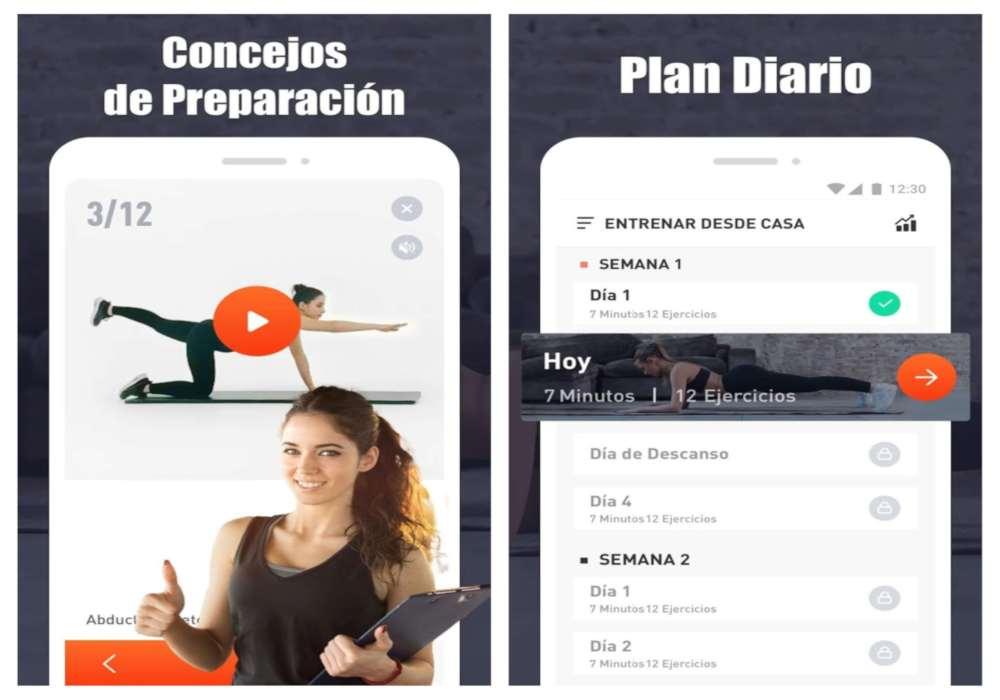 Entrenar desde Casa con app de ejercicio