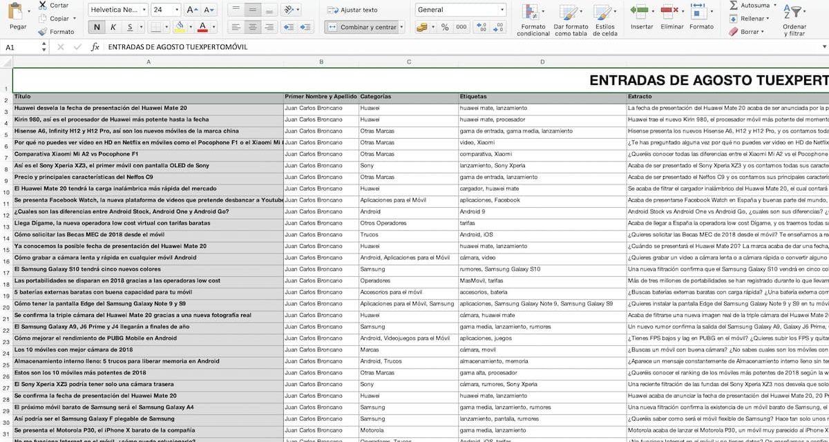 135 atajos de teclado interesantes para Microsoft Excel