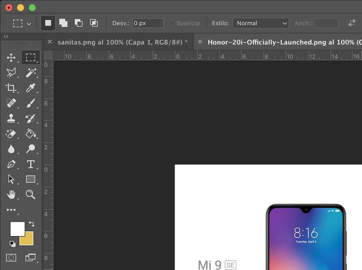 comandos de teclado photoshop cc 2018
