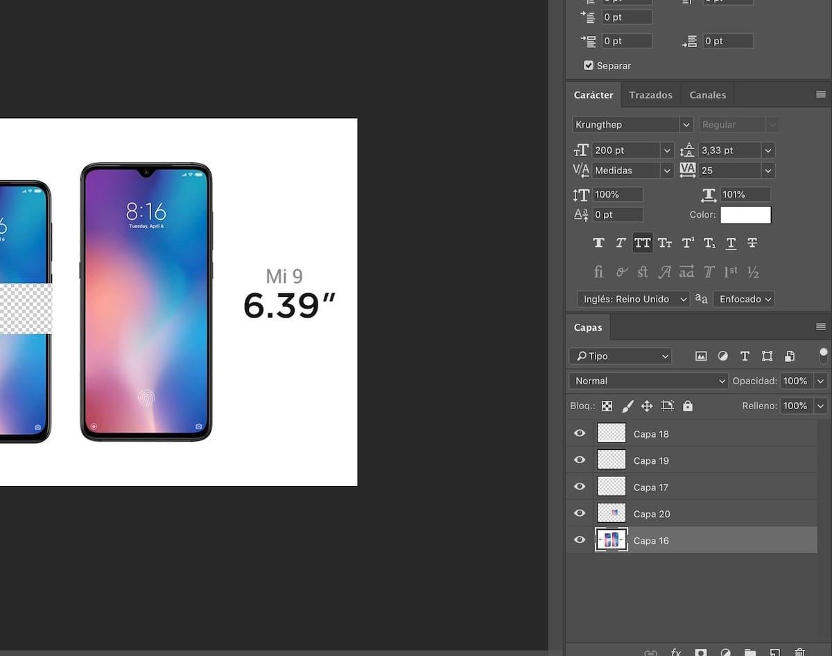 comandos de teclado photoshop cc 2019