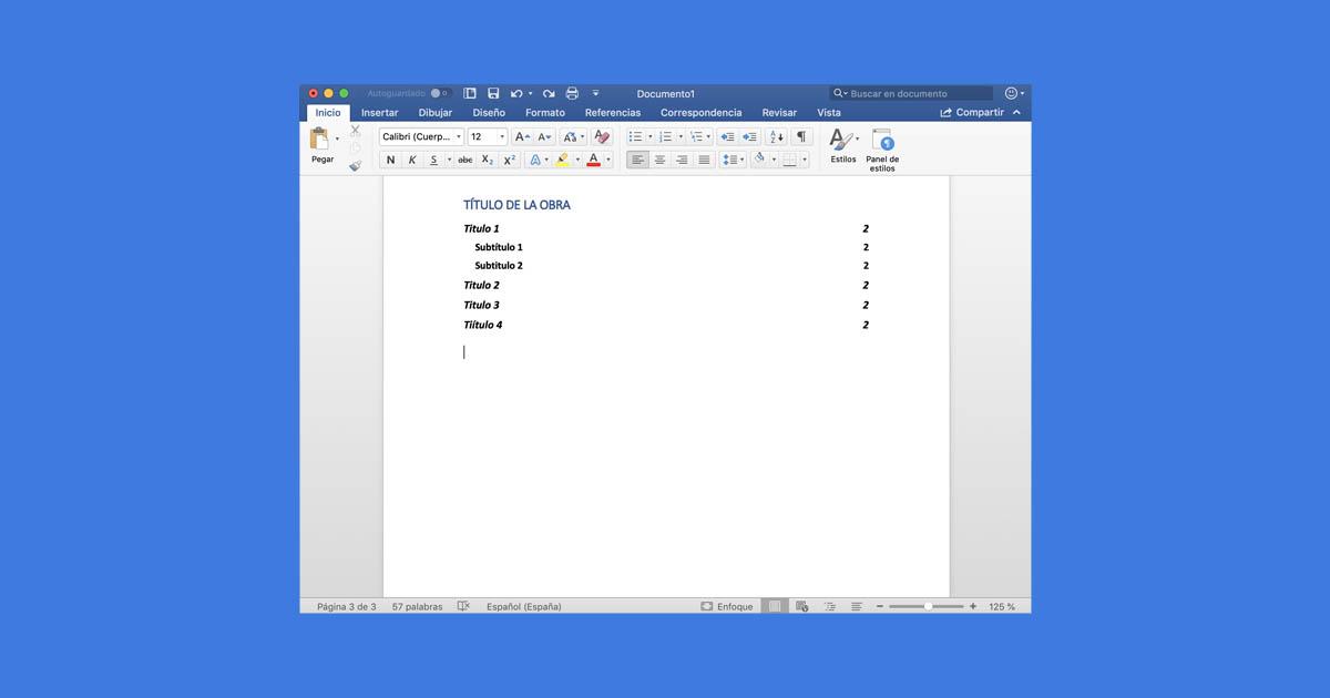 Cómo hacer un índice en Microsoft Word fácilmente