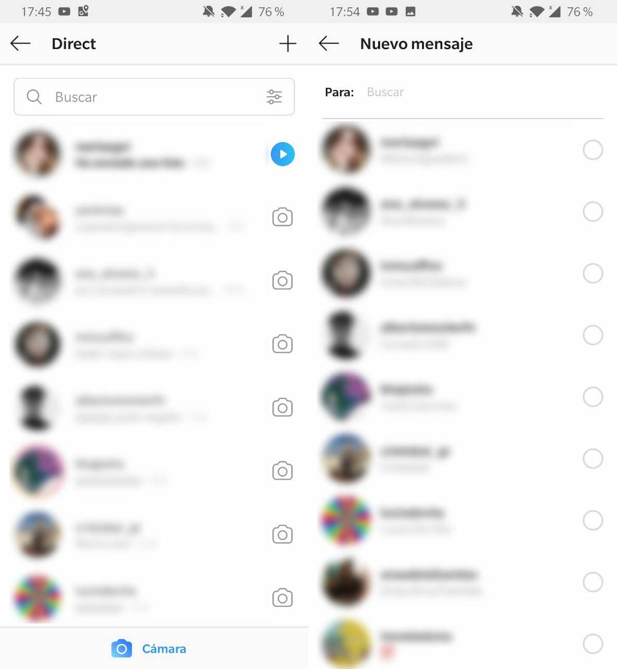 mensajes privados instagram