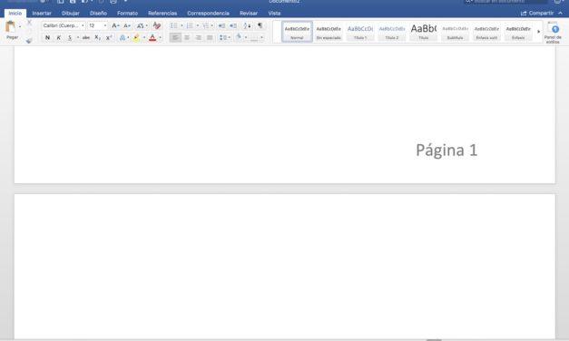 Cómo enumerar páginas en Microsoft Word de forma sencilla