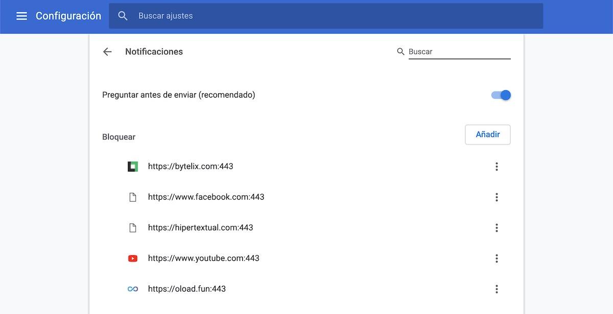 quitar notificaciones google chrome youtube 3