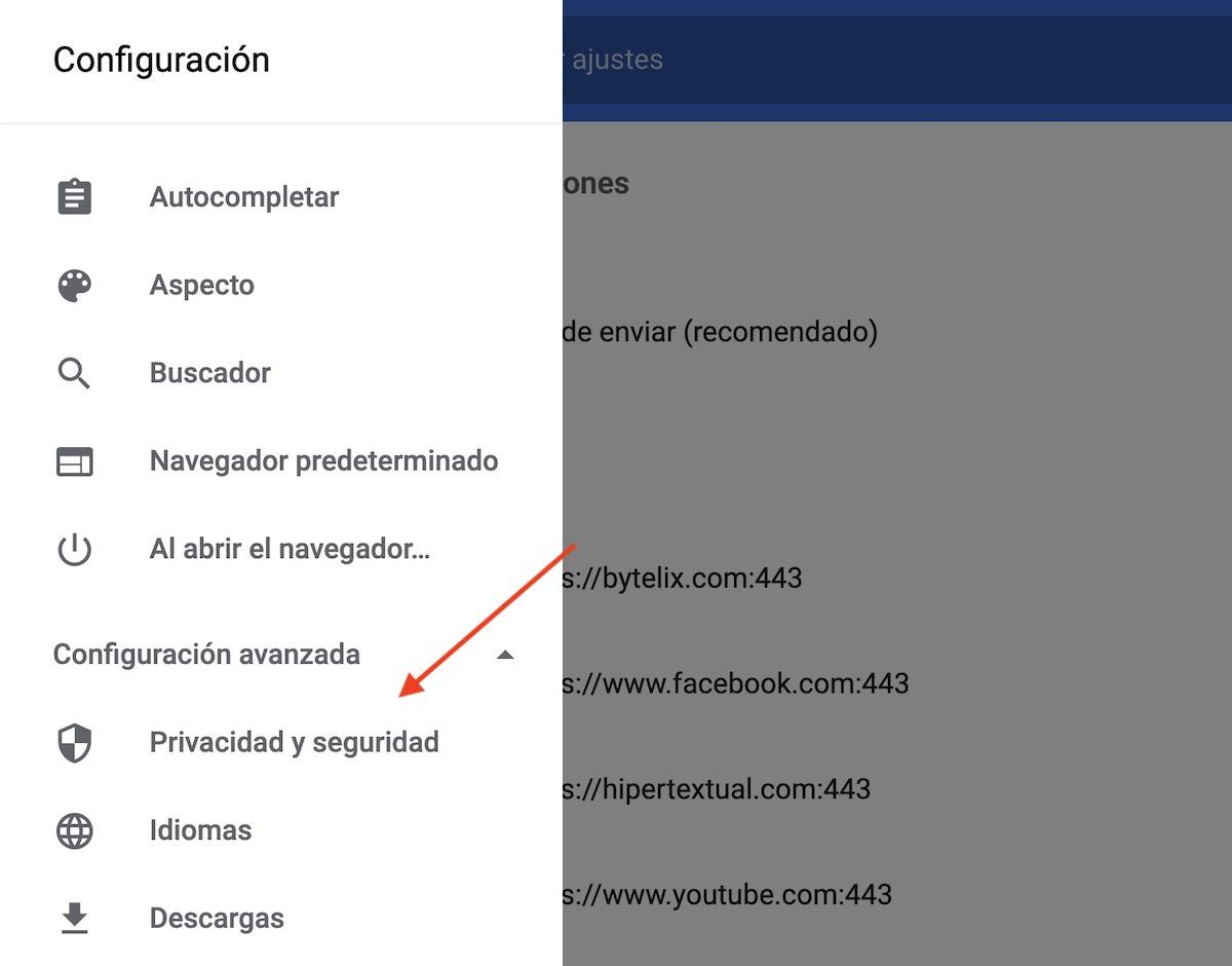 quitar notificaciones google chrome youtube