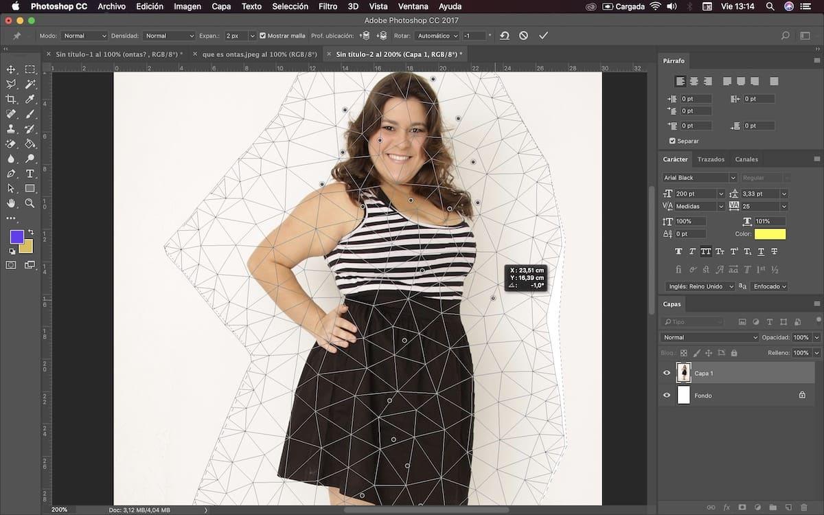usar photoshop para adelgazar cuerpo 2