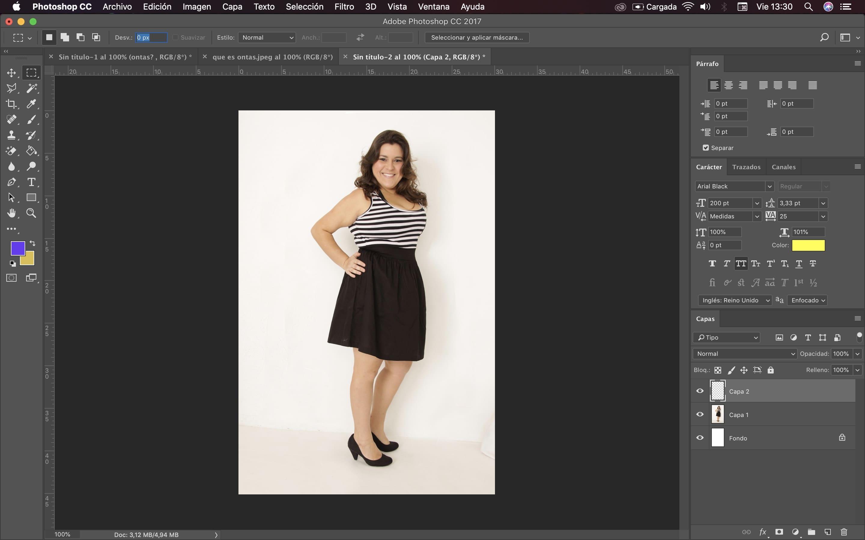 usar photoshop para adelgazar cuerpo 9