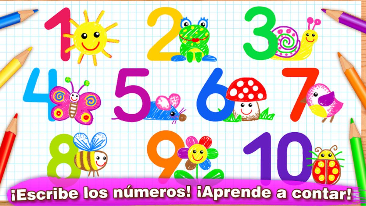 aprender los números dibujando