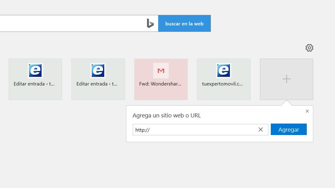 abrir pestaña nueva con google microsoft edge