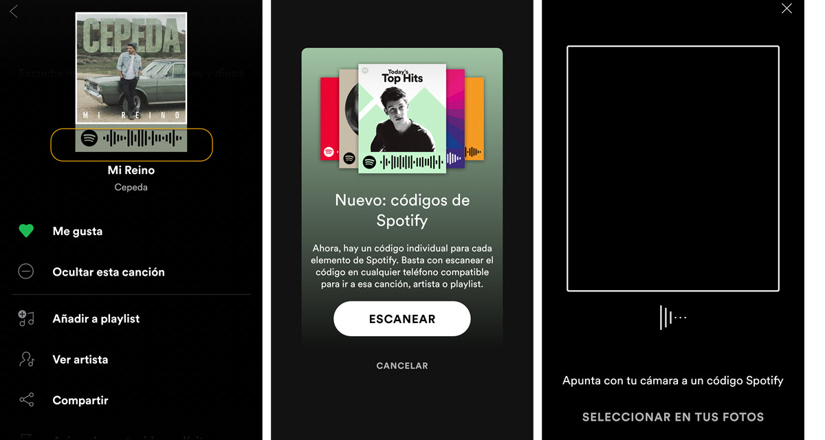 Código Spotify