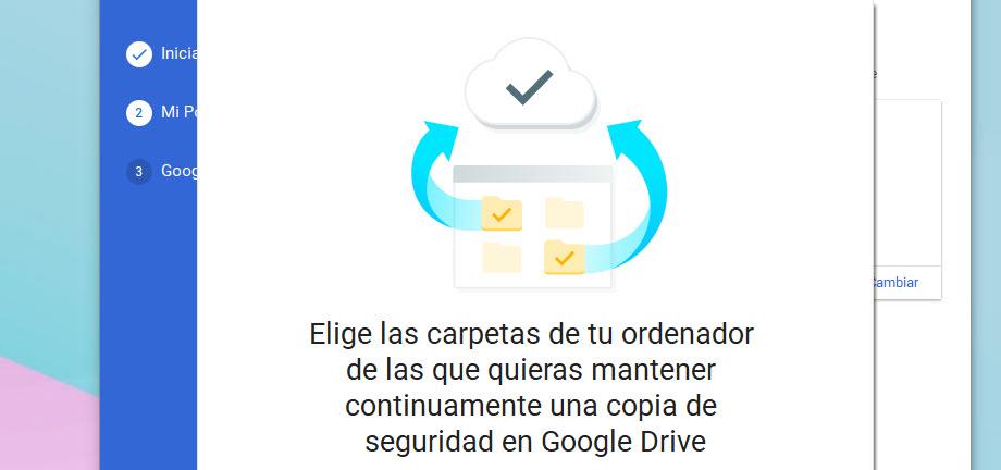 Configurar carpetas Google Drive