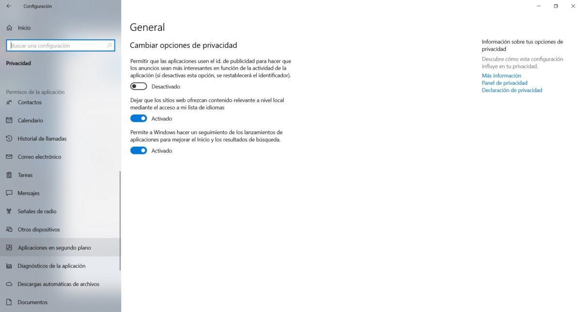 desactivar programas windows 10 2