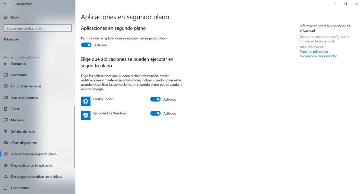 desactivar programas windows 10 3