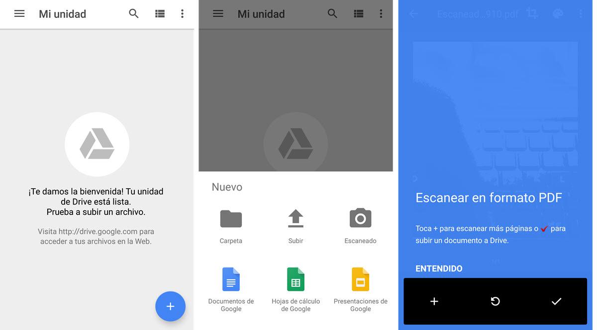 Escanear con Google Drive