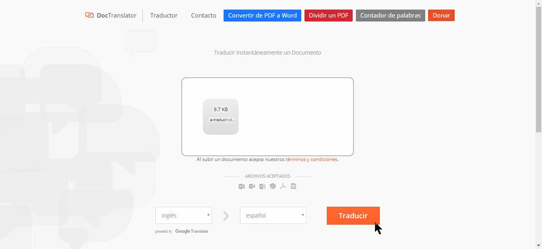traducir con doctranslator