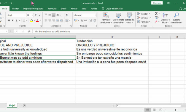 Cómo traducir textos en cualquier idioma usando Excel