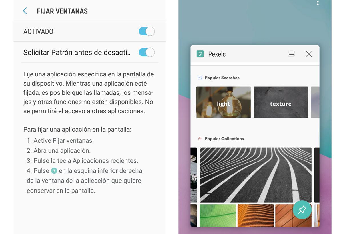 Fijar apps Android