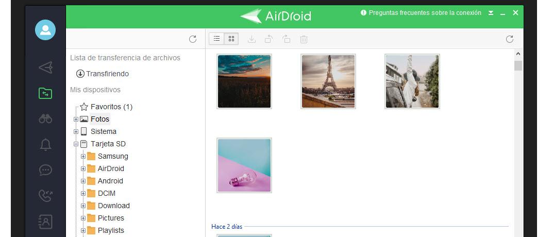 Fotos con AirDroid
