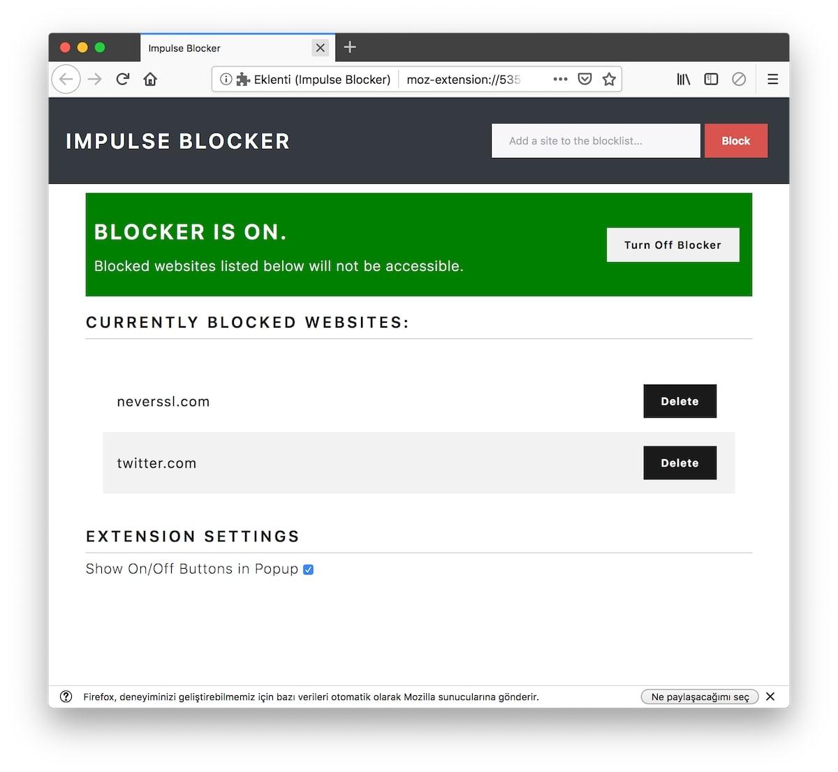 impulse blocker mejores complementos mozilla