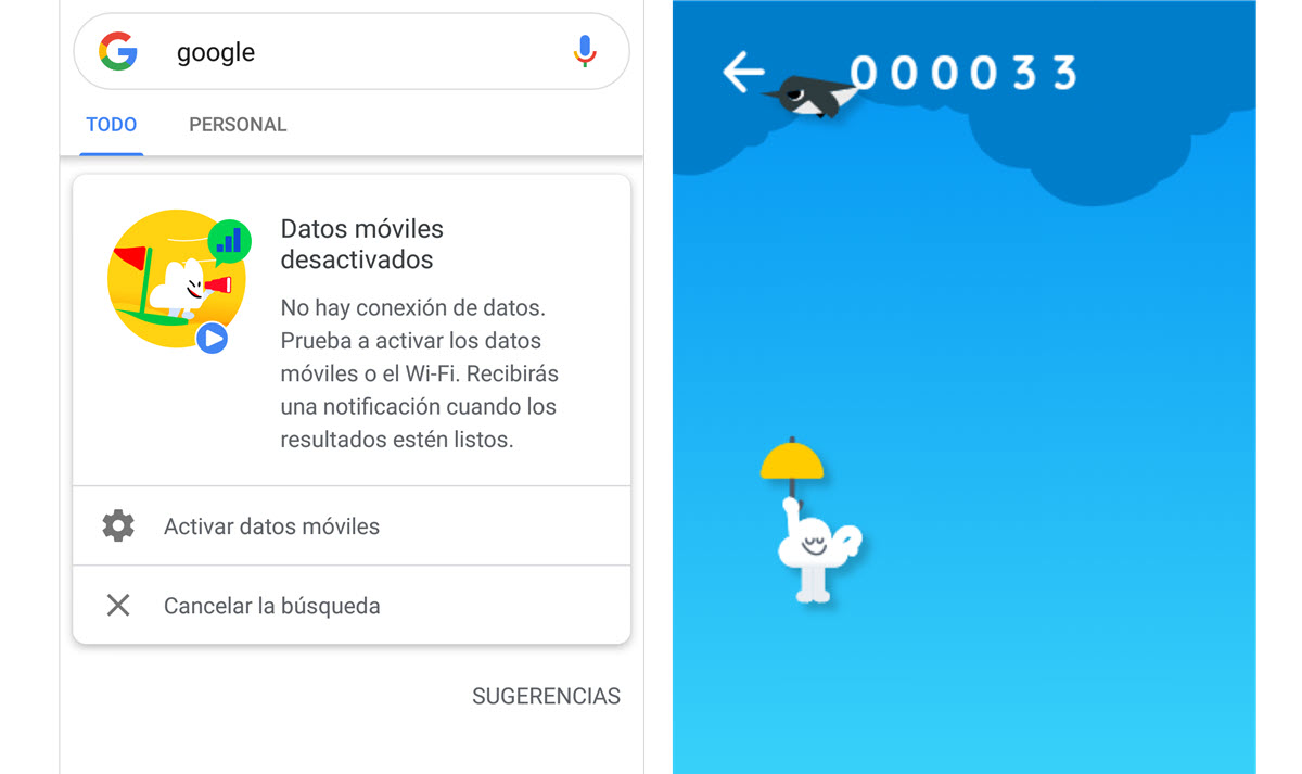 Juegos offline Android