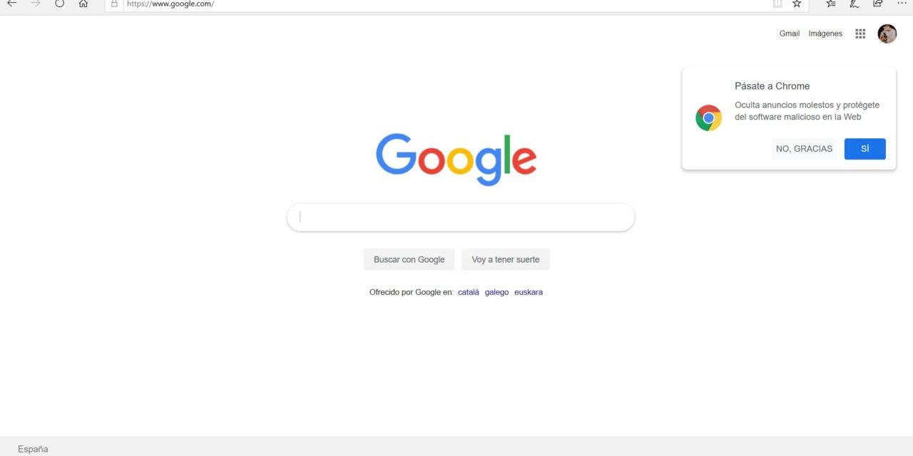 Cómo poner Google como buscador predeterminado en Microsoft Edge