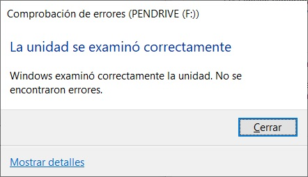 Reparar pendrive Windows 10 5