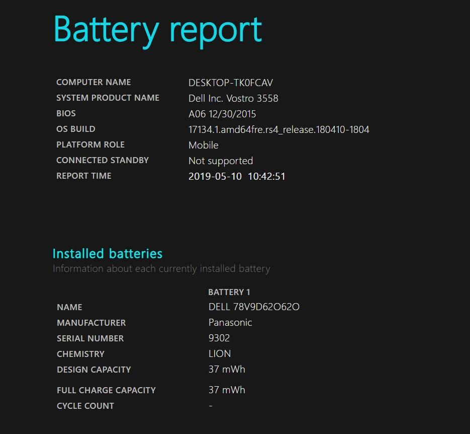ver estado bateria windows 10 1