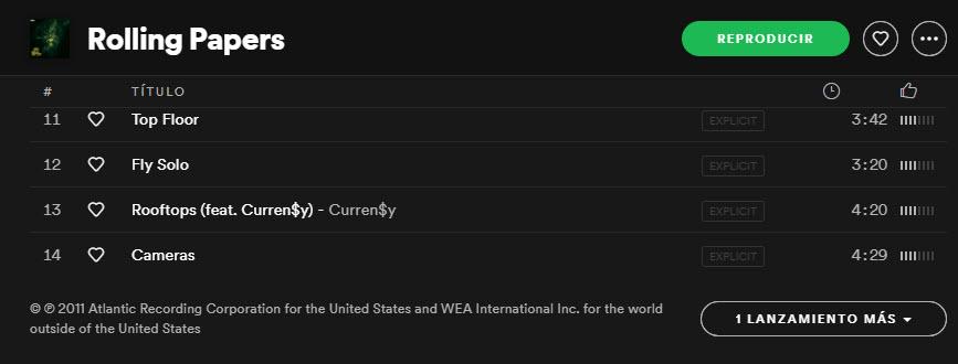 Versiones alternativas en Spotify