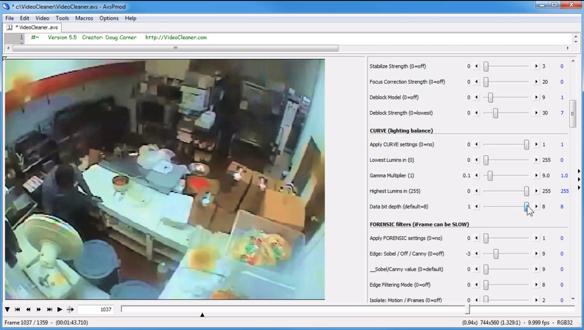 Video Cleaner para edición forense de videos