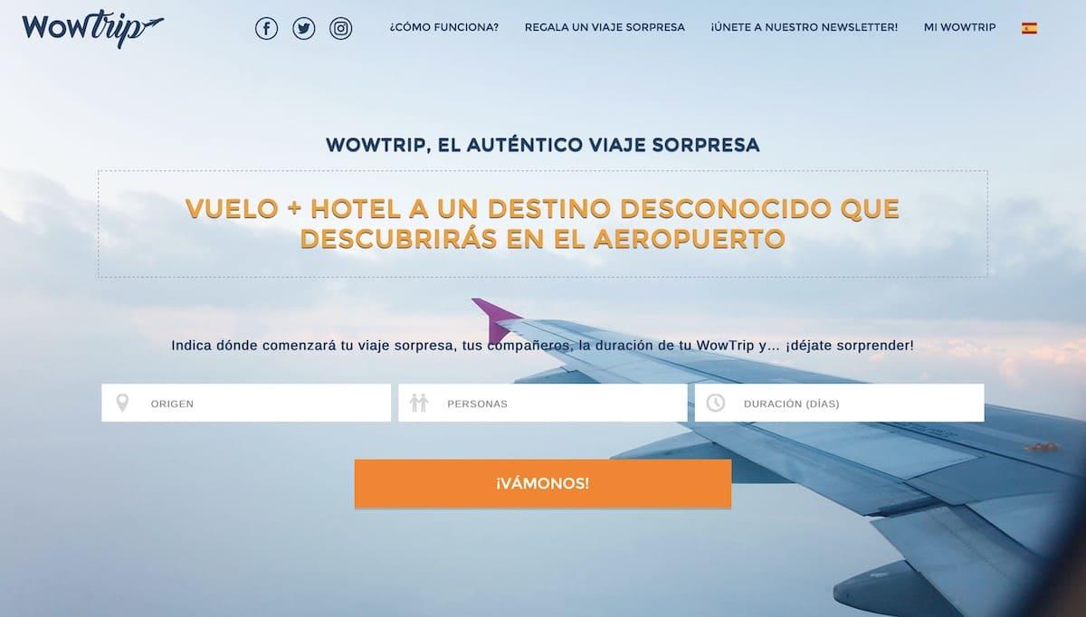 wowtrip sin destino sin fecha vuelo