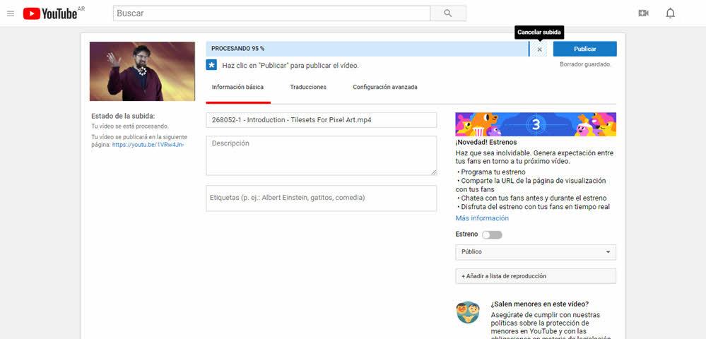 transferencias videos de YouTube