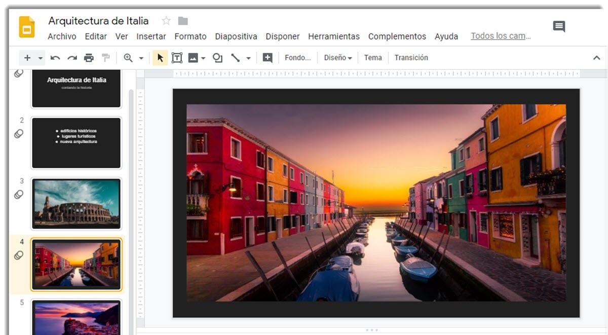 Cómo añadir animaciones a una presentación con Google Slides