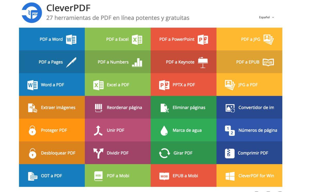 Clever PDF herramienta online