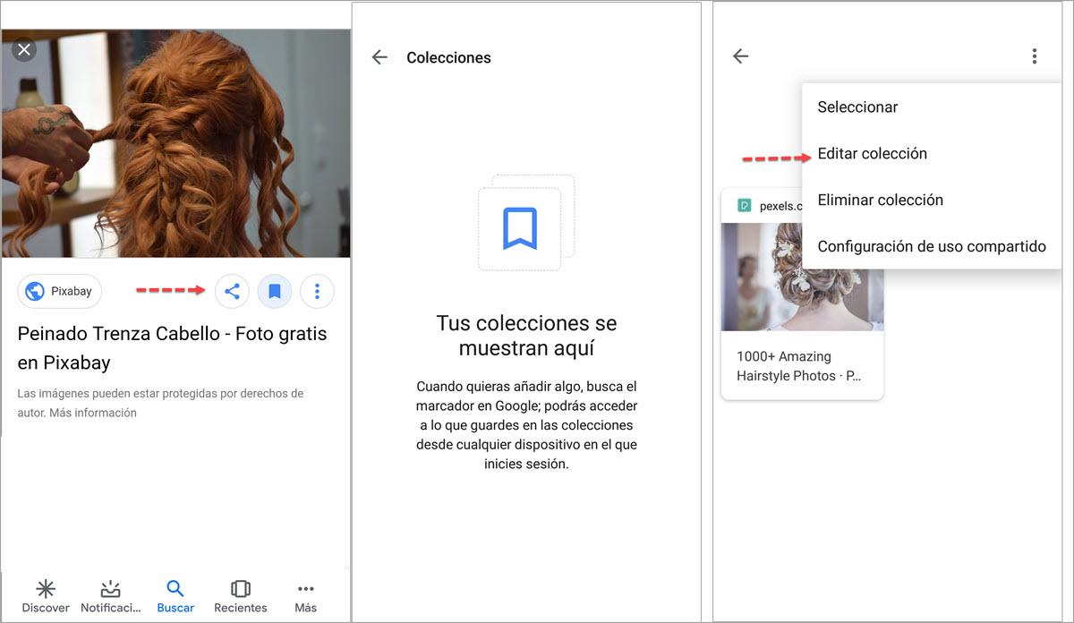 colecciones desde Android