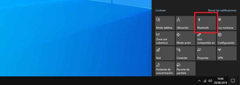 Como activar el Bluetooth en Windows 10 2