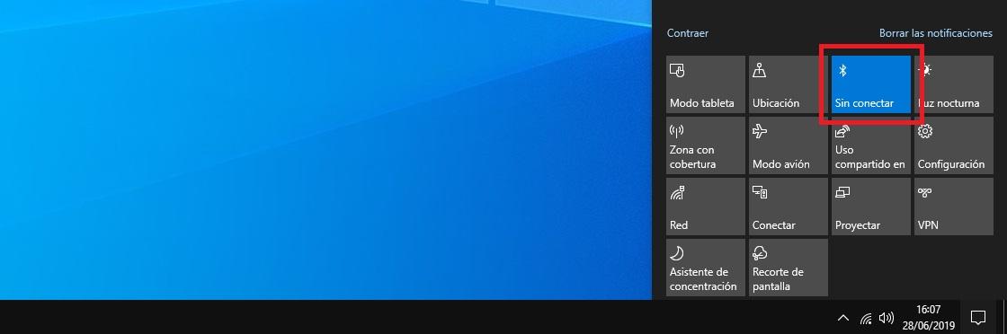 Como activar el Bluetooth en Windows 10 3