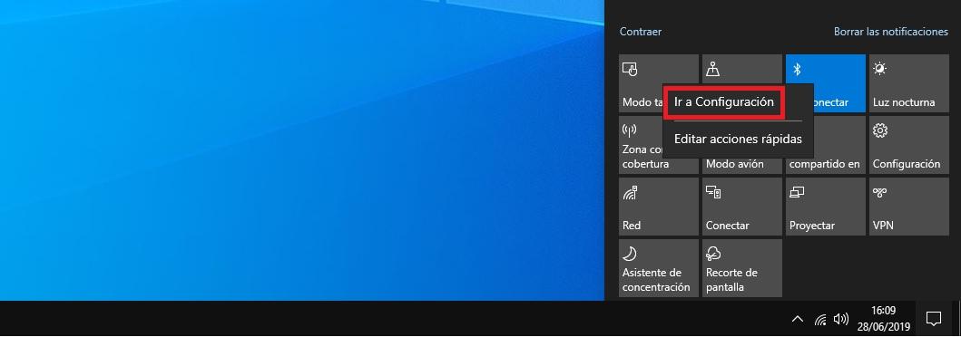 Como activar el Bluetooth en Windows 10 4