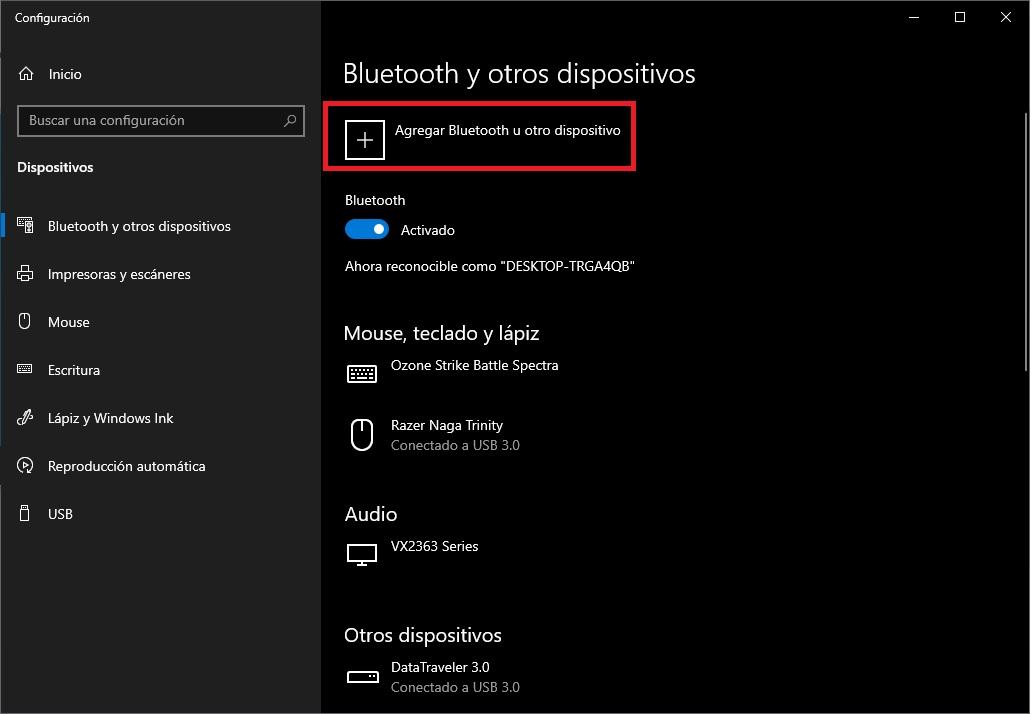 Como activar el Bluetooth en Windows 10 5