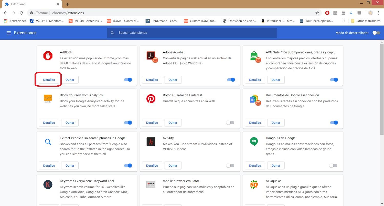 Cómo activar las extensiones en el modo incógnito de Chrome 3
