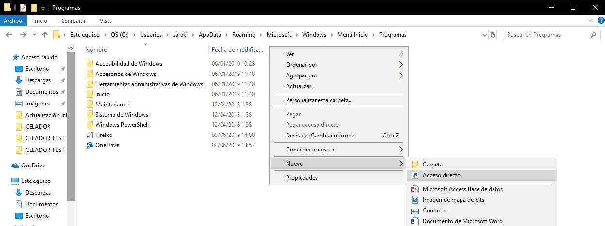 Cómo añadir un acceso directo al menú de inicio de Windows 2