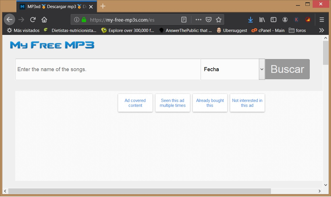 Cómo descargar música en mp3 gratis y legal con My free mp3 1